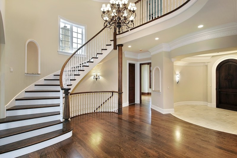 Foyer interior design and house entryway ideas for New home construction designs