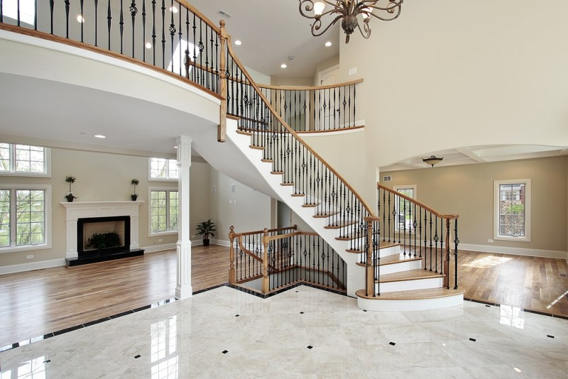 Foyer interior design and house entryway ideas for Luxury staircase