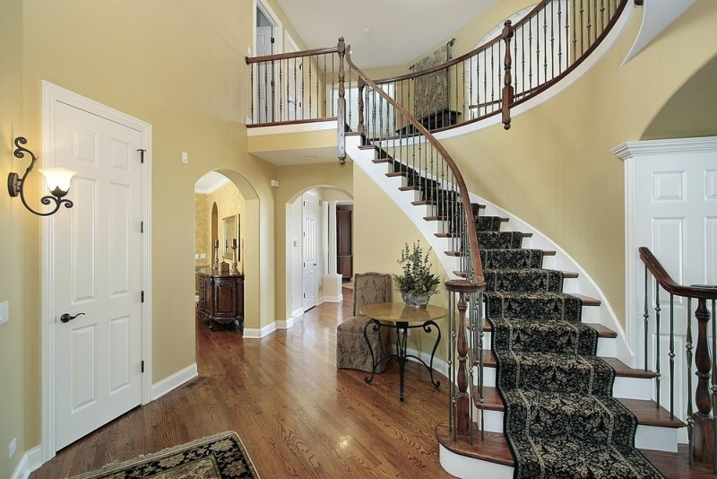 Foyer Designs With Stairs : Foyer interior design and house entryway ideas