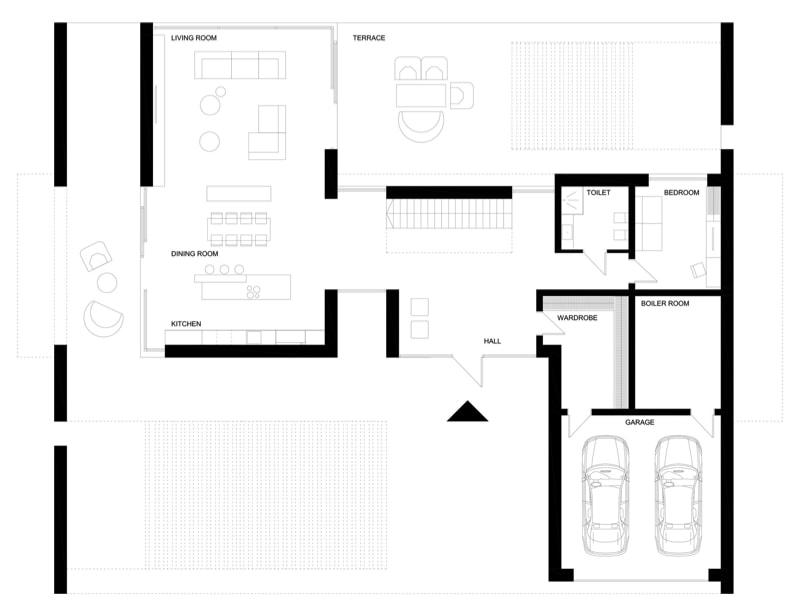 Mirror House ground level min - Mirror House Project, Poland by REFORM Architekt