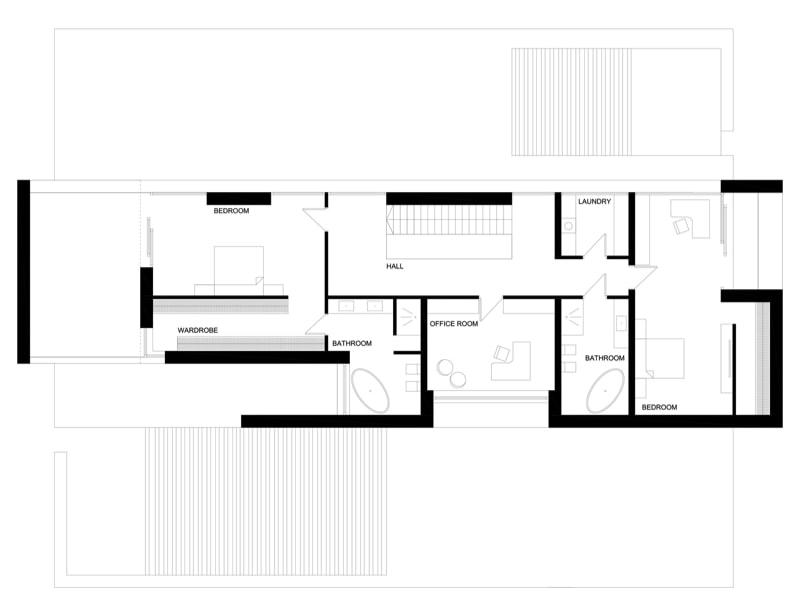 Mirror house second level min - Mirror House Project, Poland by REFORM Architekt