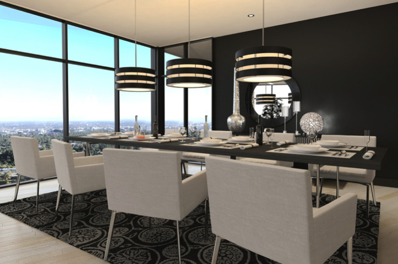 Modern Design Dining Room Living Room Interior copy e1445849357754 - Modern Dining Room Design and Elegant Dining Room Ideas