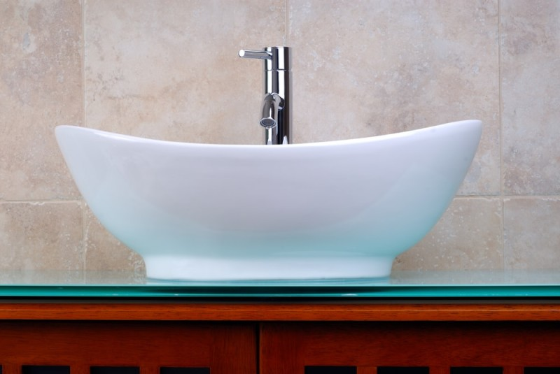 Wash Basin Bathroom : ... tiled bathroom with faucet and one of the nicest bathroom wash basins