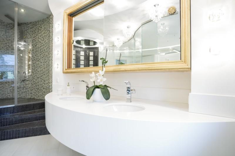 Washbasin in luxury bathroom in modern house min e1444245152232   Bathroom  Wash Basins. Bathroom Wash Basins