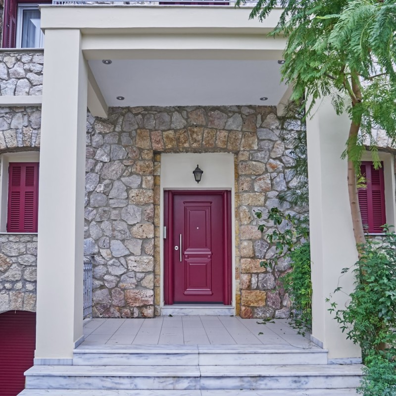 Modern Red Front Door: Red Doors On Houses