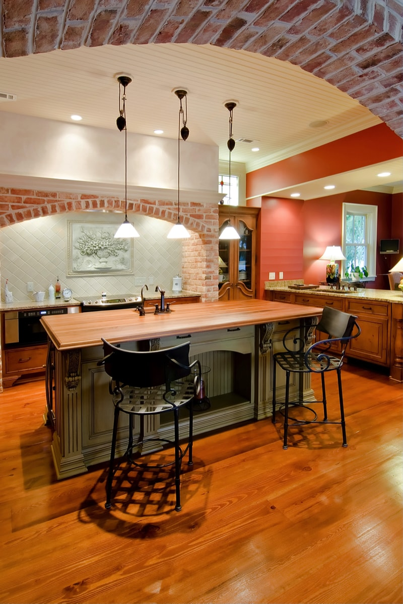Expensive Tuscan style remodelled kitchen
