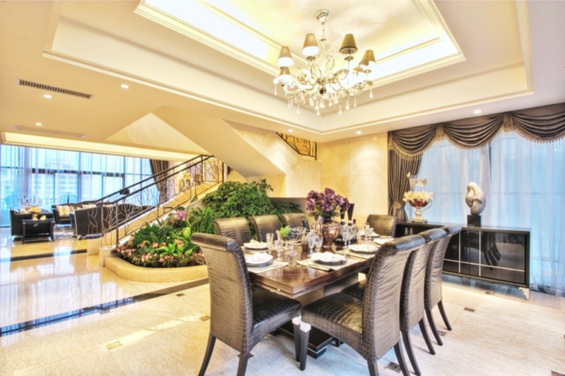 luxury house dining table area e1445849404371 - Modern Dining Room Design and Elegant Dining Room Ideas