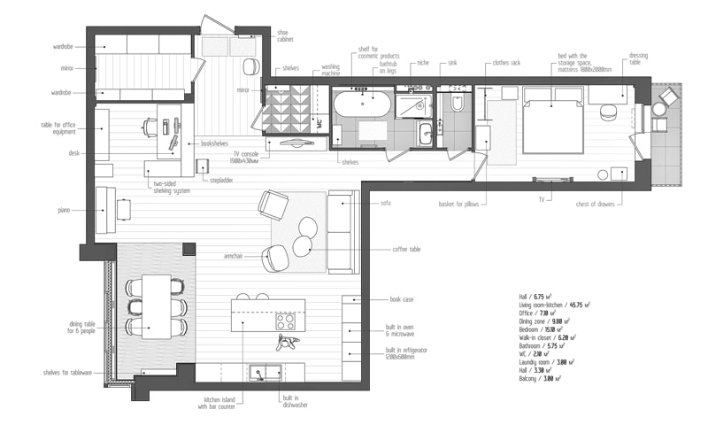 plan eng1 min - Interior DI Project in St Petersburg, Russia by INT2architecture