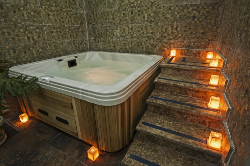 A Jacuzzi In A Health Spa 90211721 min - 27 Home Hot Tubs and Spa Pools