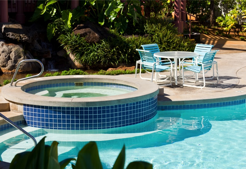 A Pool And Hot Tub With Table 29733212 min - 27 Home Hot Tubs and Spa Pools