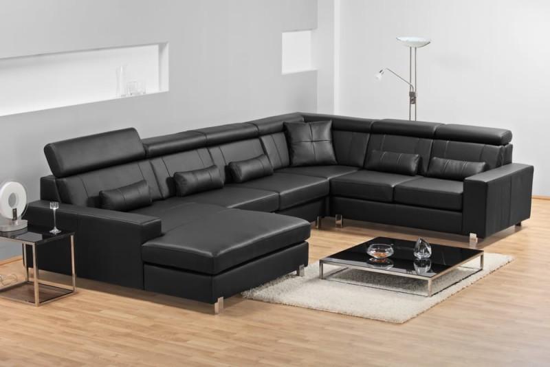 sophisticated leather matt black sofa perfect for relaxing on black leather sofa perfect