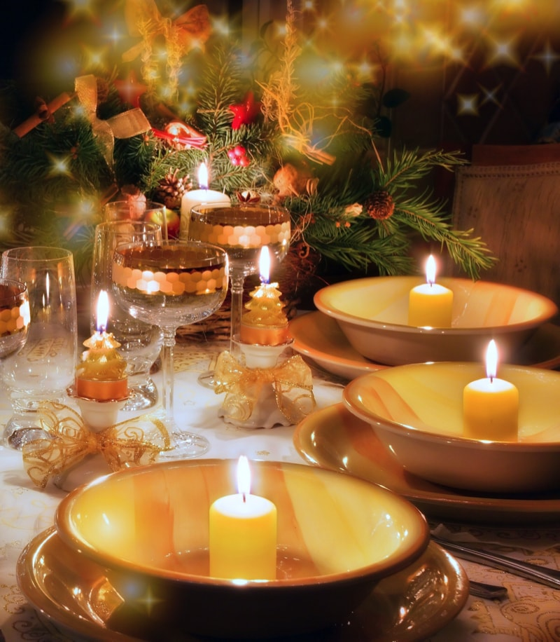 christmas party table decorations ideas - Christmas Dinner Decorations