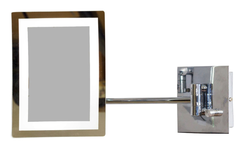 Flexaible Rectangle LED Mirror with Light Dimmer and 3x Zoom
