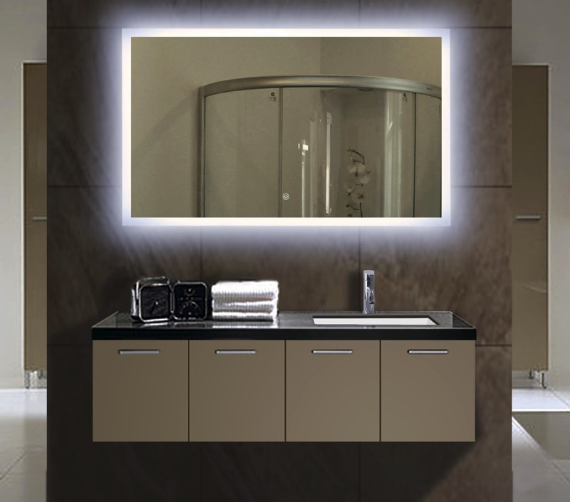 Backlit Illuminated Bathroom Mirror