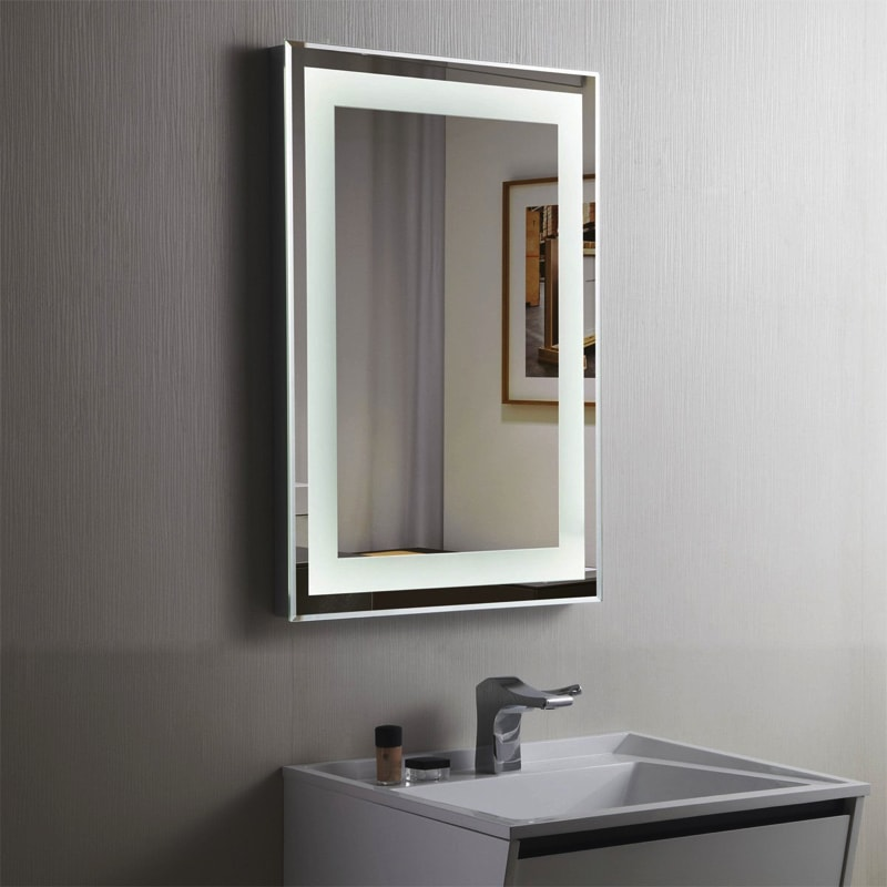 Cool Illuminated Bathroom Mirror For Stylish Interior Bathroom Designs & Bathroom Mirrors Illuminated With Simple Image In Us | eyagci.com