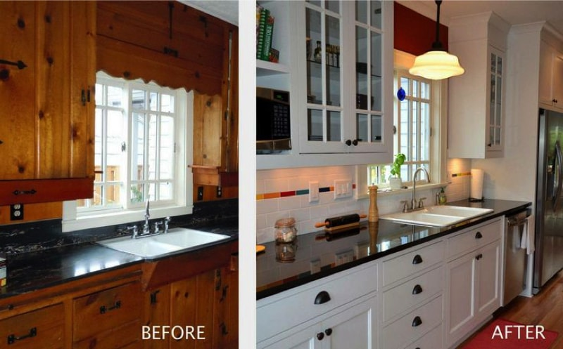 Kitchen Remodel Cabinets Exterior Painting Painting Pine Kitchen Cabinets  Roselawnlutheran