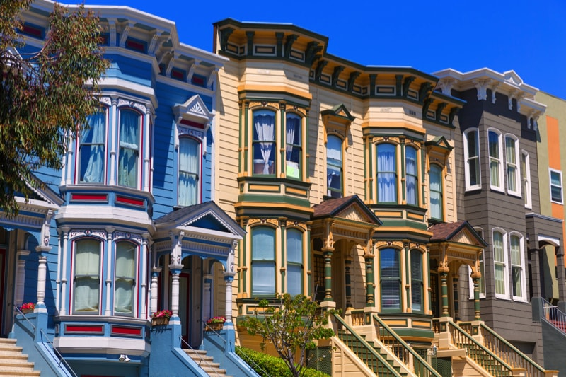 Exterior house colors themes for Houses in san francisco