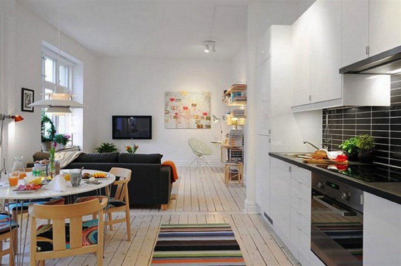 Image Via Frevinco.com Min   17 Ideas For Decorating Small Apartments And Tiny  Spaces