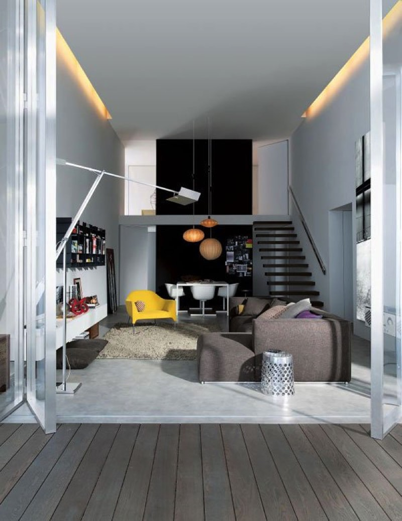 Modern two level apartment with great use of limited space