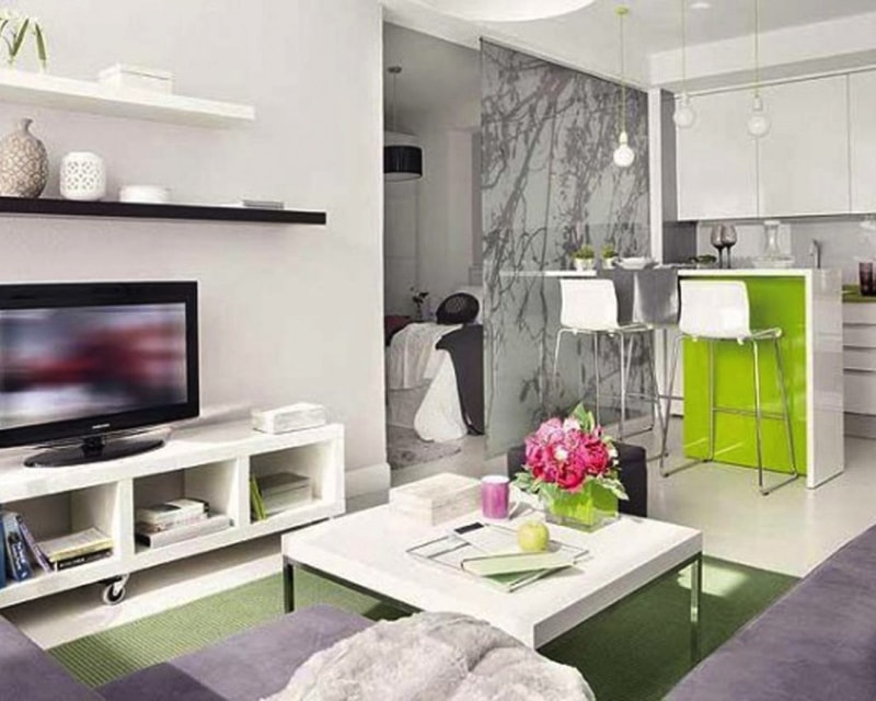 Image Via Room Ideas.com Min   17 Ideas For Decorating Small Apartments And  Tiny Part 75