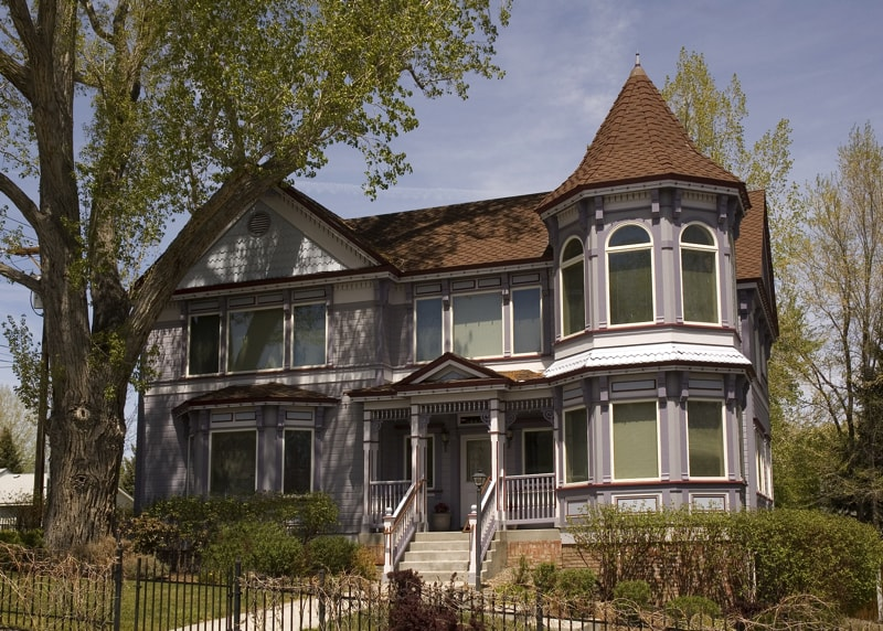 Classical Victorian styled home in Carson City Nevada with elegant front steps