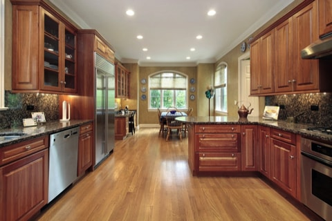 Choosing the best kitchen flooring for your new kitchen for Small kitchen eating area ideas