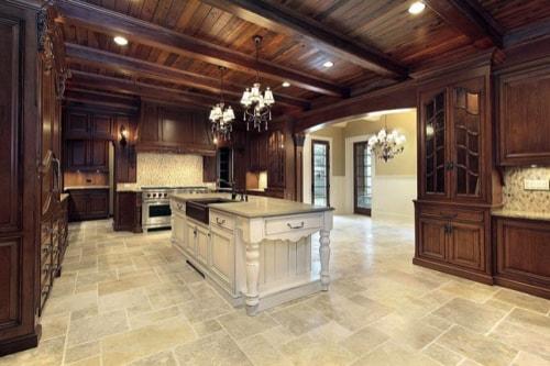 granite kitchen floor Image via www.buckeyestateblog min - Choosing the Best Kitchen Flooring for Your New Kitchen