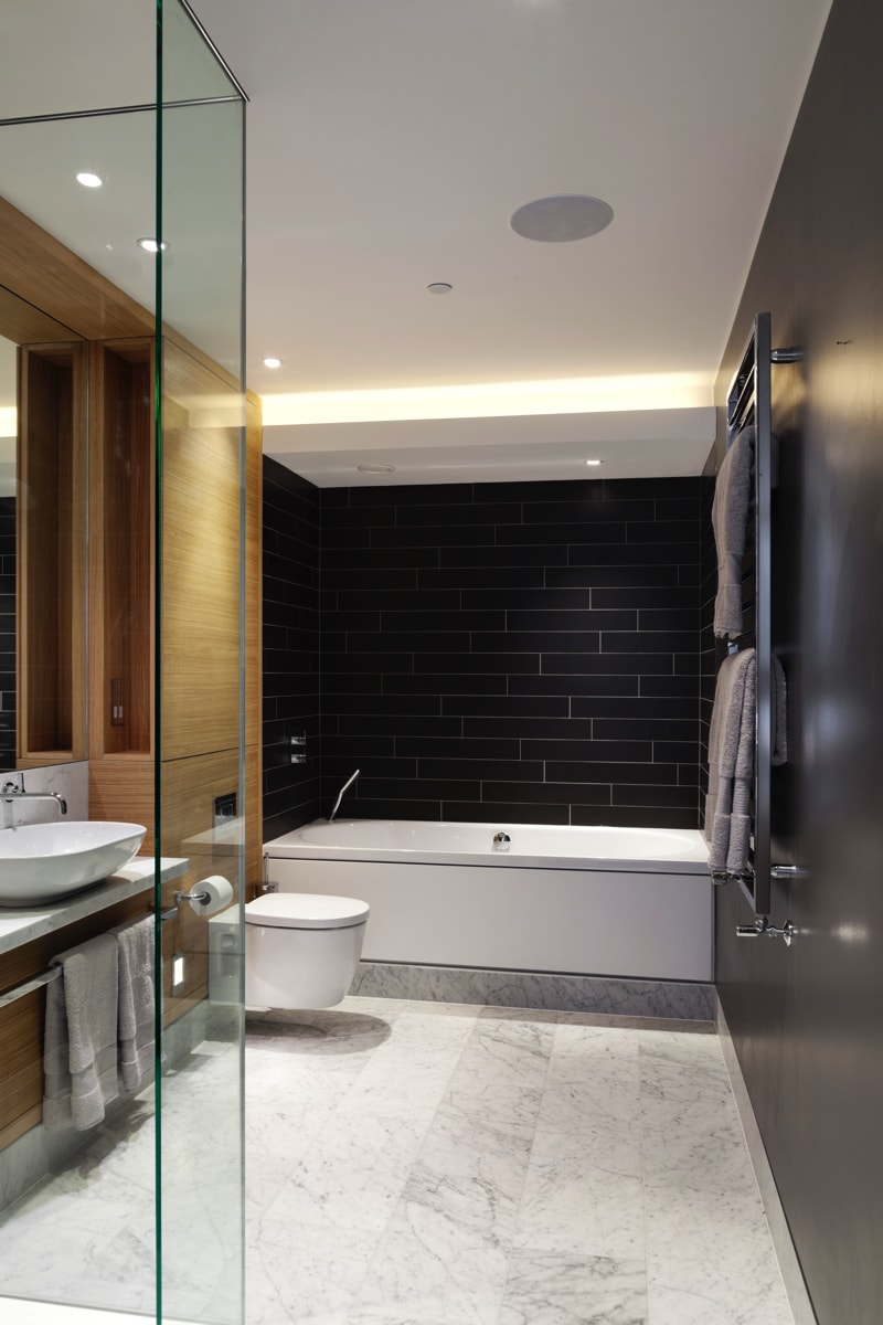 NarrowHouse bathroom shot2 min - Narrow House Makeover, Covent Garden, London UK by FORMstudio