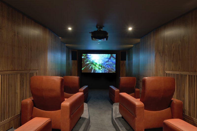 NarrowHouse cinema room min - Narrow House Makeover, Covent Garden, London UK by FORMstudio