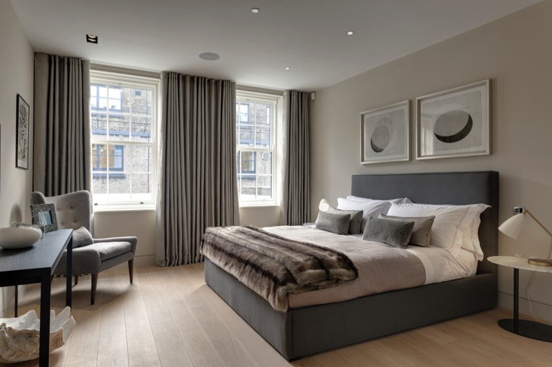 NarrowHouse interior Bedroom4 min - Narrow House Makeover, Covent Garden, London UK by FORMstudio