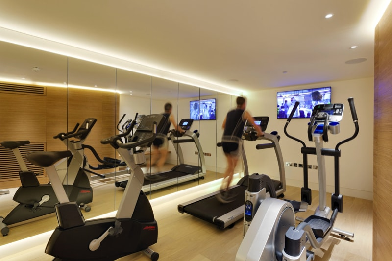 NarrowHouse interior gym shot3 min - Narrow House Makeover, Covent Garden, London UK by FORMstudio