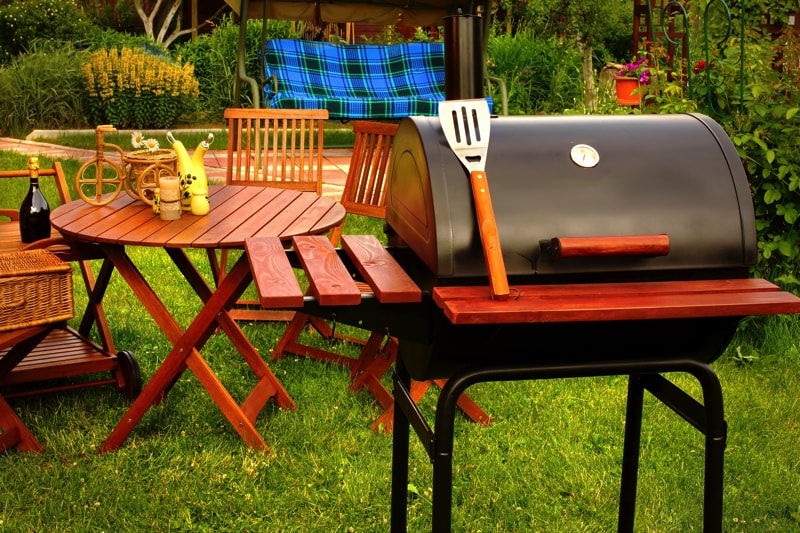 Outdoor Weekend Bbq Grill Party Or Picnic Concept Outdoor Summer Weekend BBQ Grill Party Or Family Lunch Or Cookot Food Or Picnic Concept
