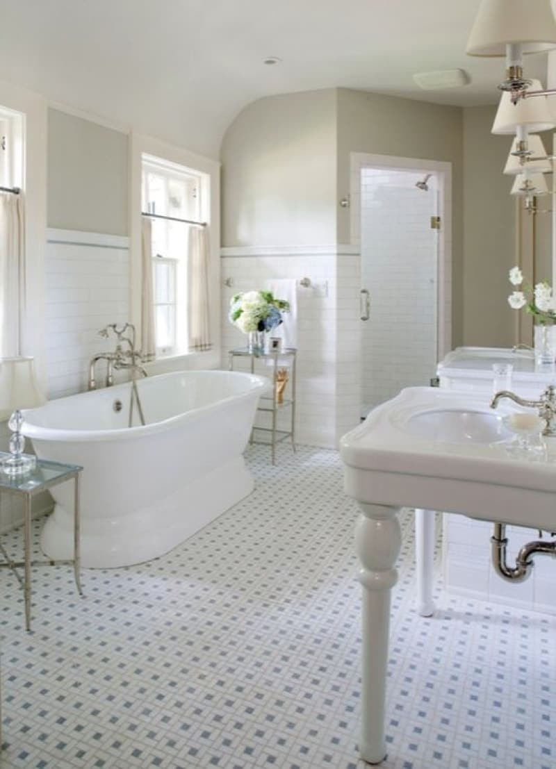 15 beautiful bathroom design styles for Warm feel bathroom floor tiles
