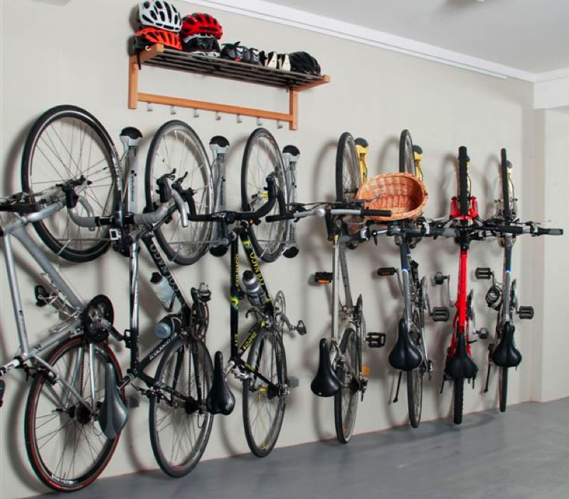 Invest in Vertical Bike Storage and Wall Mounted Shoe Rack - 10 Best Tips To Make Use Of Your Garage Space