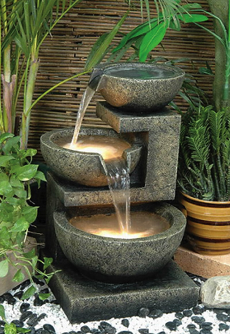 Cascading water feature Image via 5-livedan330-com