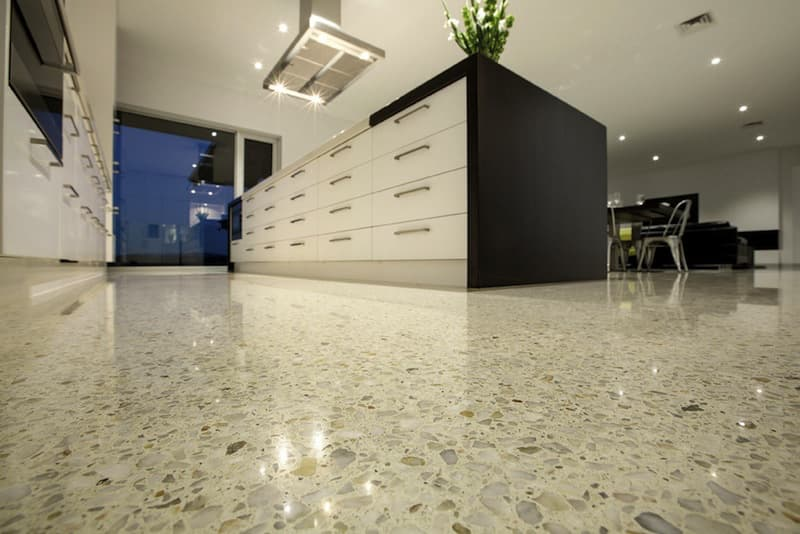 Polished concrete floors for your kitchen can modernize for How to shine cement floor