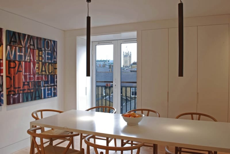 Dining area © Mike Neale - Artillery Mansions, London (UNLOCKING SPACE)