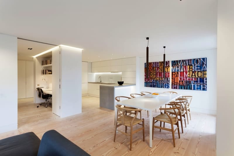 Artillery Mansions, London -dining-area-kitchen