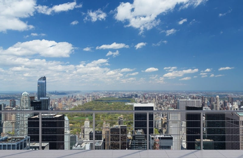 Stunning breath taking views from a balcony for New york balcony view