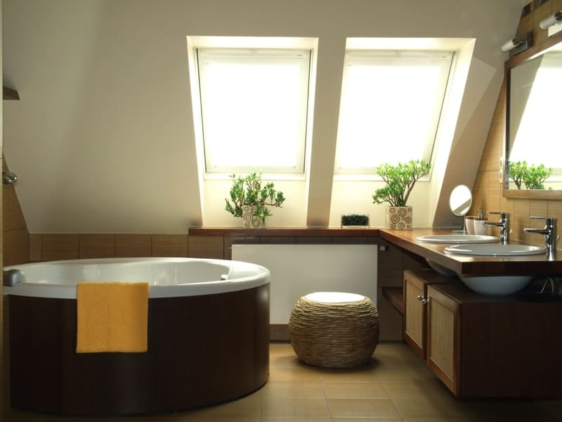 New fashionable bathroom in brown and white colors - Modern Bathroom Design Ideas