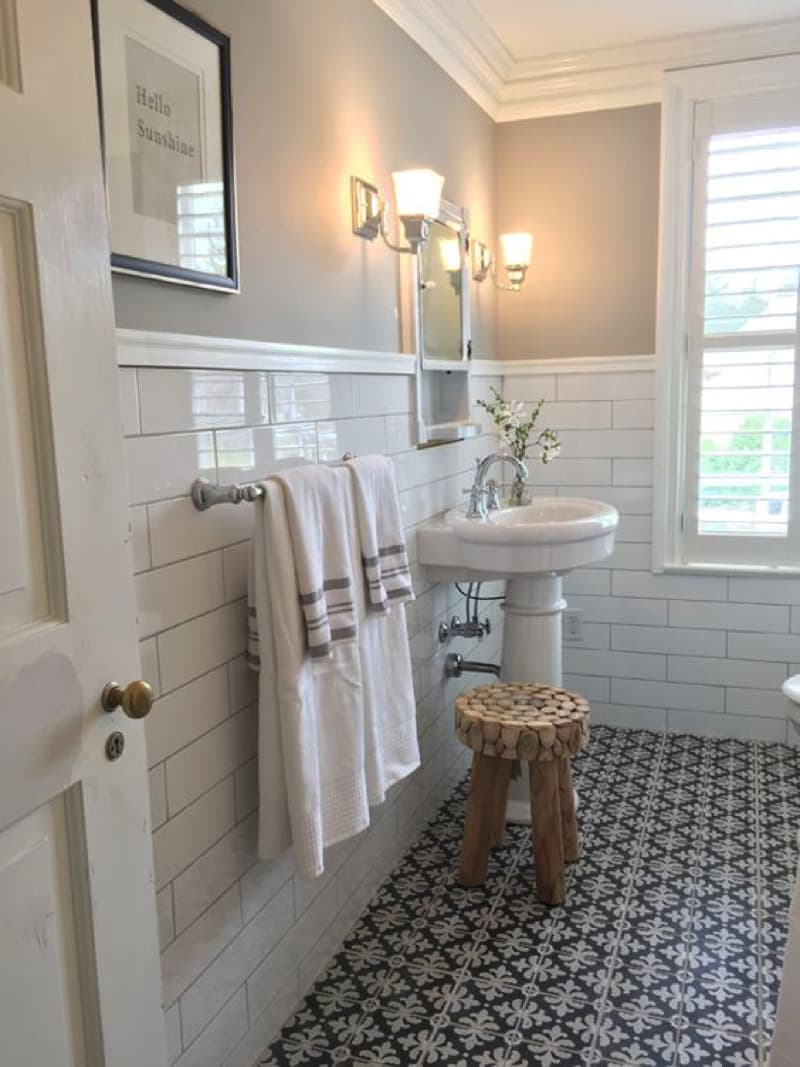 Vintage bathroom decorating ideas for Home and garden bathroom ideas