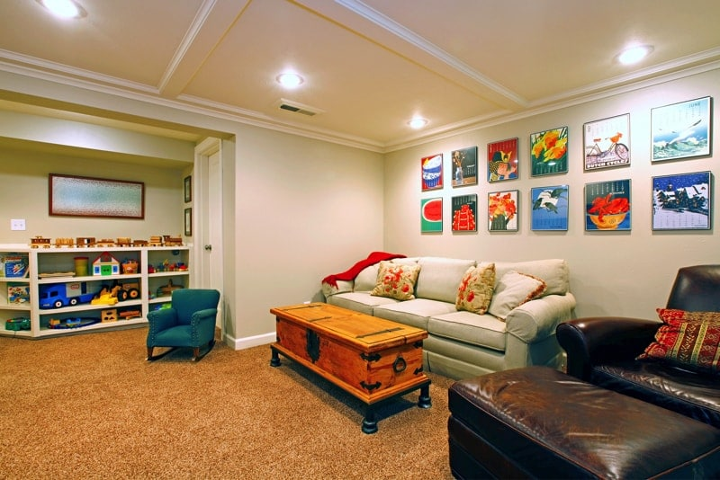 Home basement decorating ideas for How to turn a basement into a room