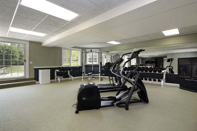bigstock Exercise Room In Suburban Home 5213903 - Home Basement Decorating Ideas