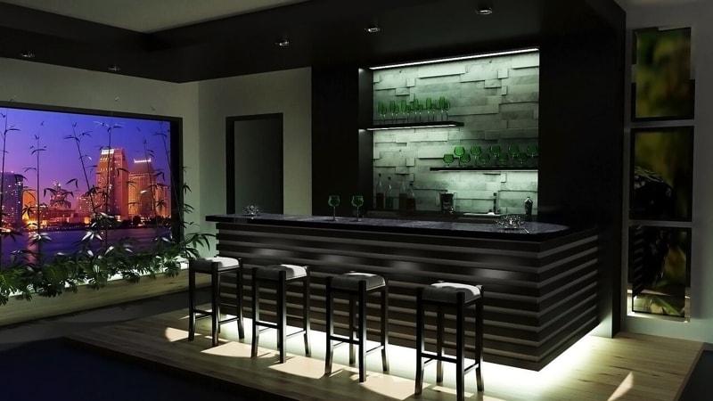 Home bar -home interior decorating