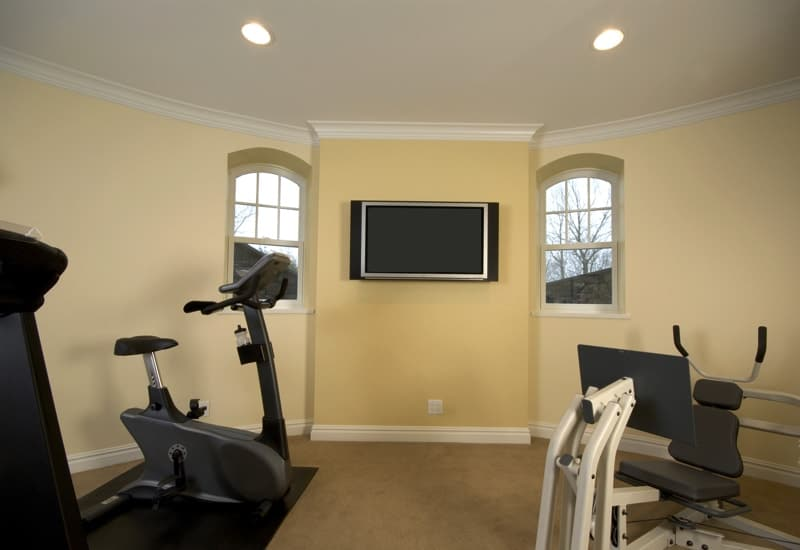 home gymnasium with televison in mansion private residence 1109827 - Contemporary Loft Conversions