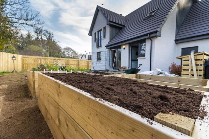 wooden raised garden beds