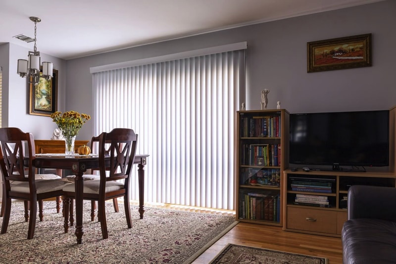 long blinds and drapes - home interior decorating