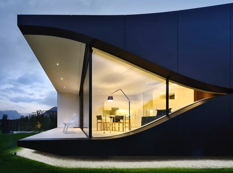Mirror House North north view - The Mirror Houses Holiday Homes In South Tyrol, Italy
