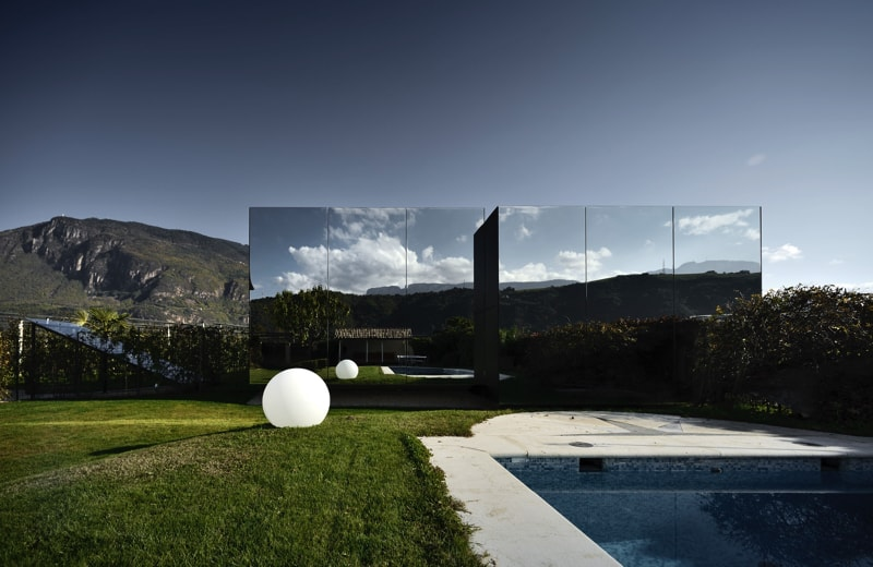 Mirror Houses back day pool 1 - The Mirror Houses Holiday Homes In South Tyrol, Italy