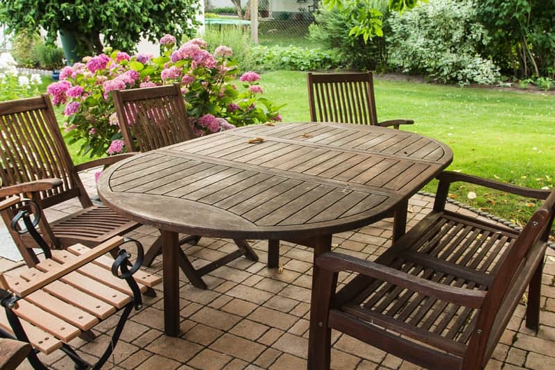 Outdoor Cedar Table and Chairs